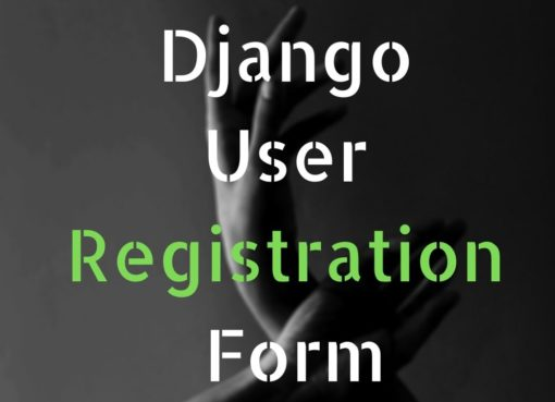 Django user registration form