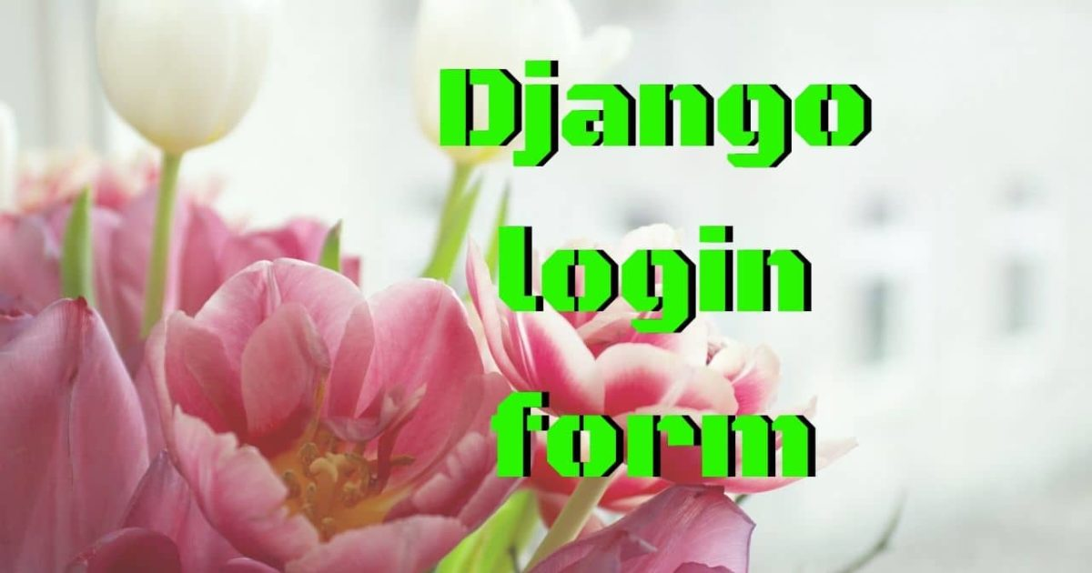 django login form
