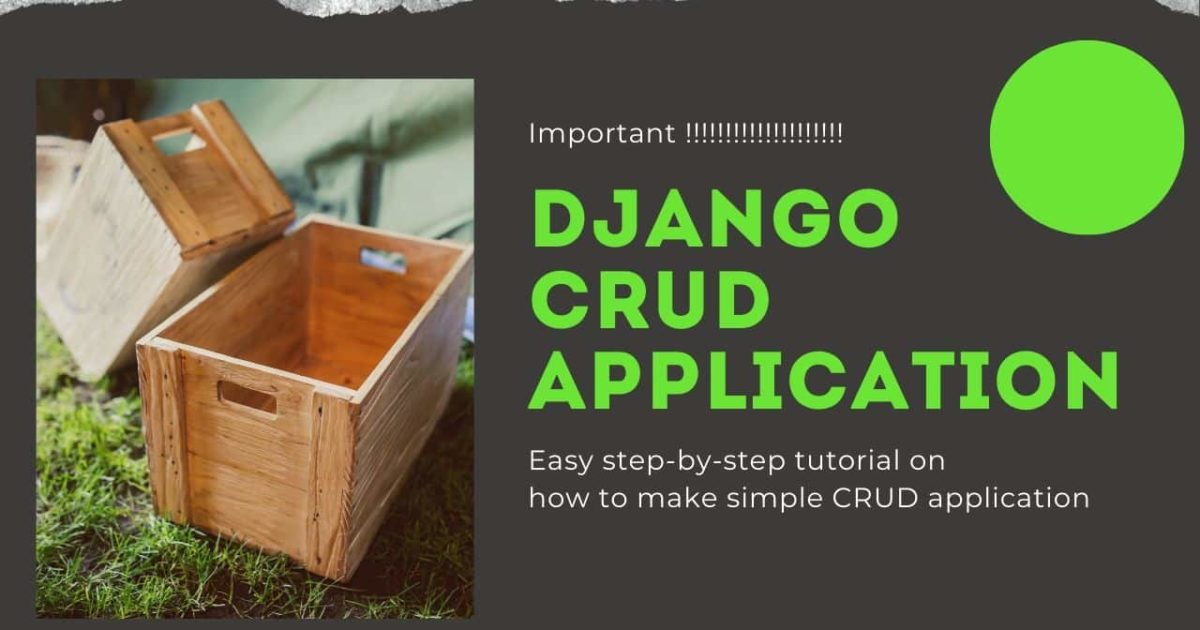 Django CRUD application