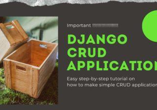 Django CRUD application
